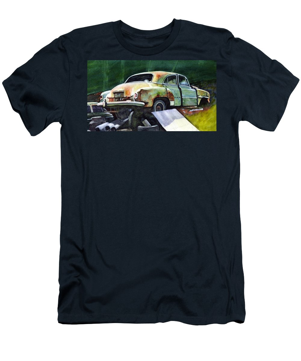 Chev Men's T-Shirt (Athletic Fit) featuring the painting Chev At Rest by Ron Morrison