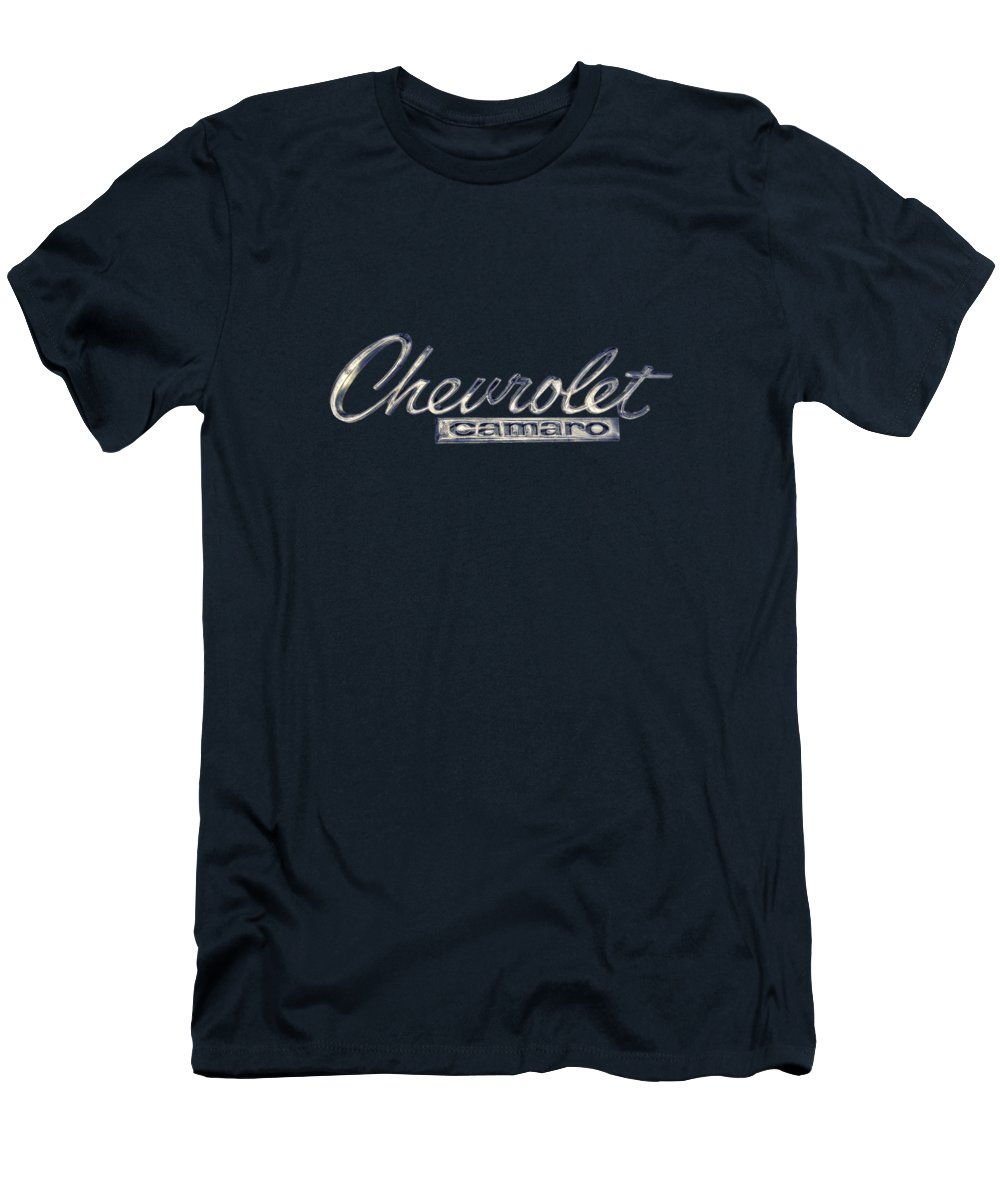 Automotive T-Shirt featuring the photograph Chevrolet Camaro Badge by YoPedro