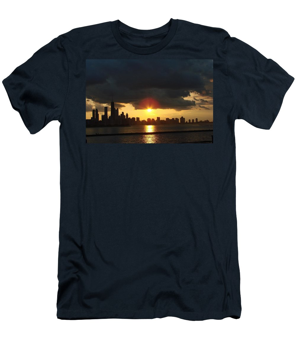 Chicago T-Shirt featuring the photograph Chicago Silhouette by Glory Fraulein Wolfe
