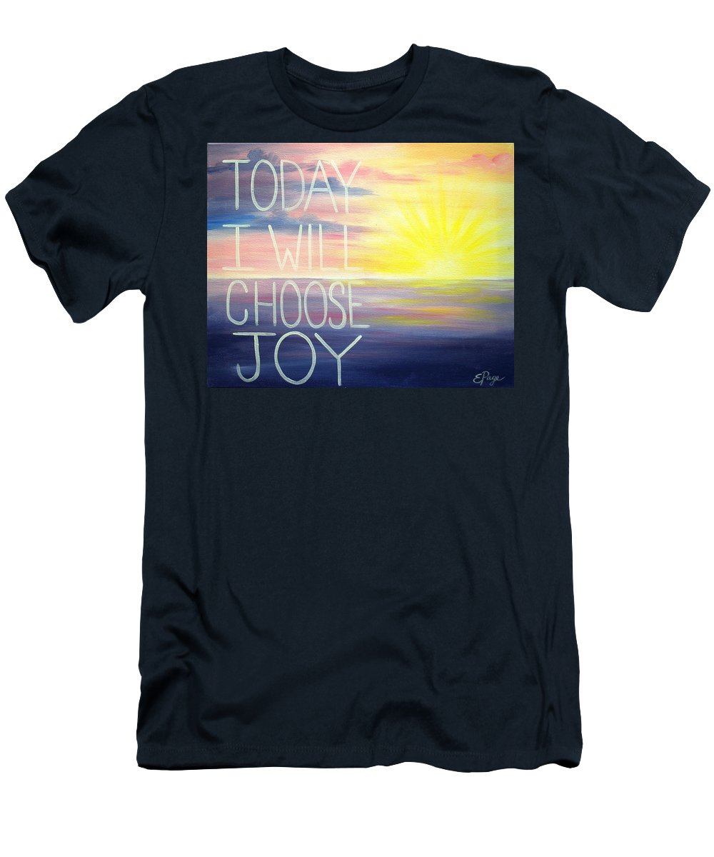 Choose Joy Men's T-Shirt (Athletic Fit) featuring the painting Choose Joy by Emily Page
