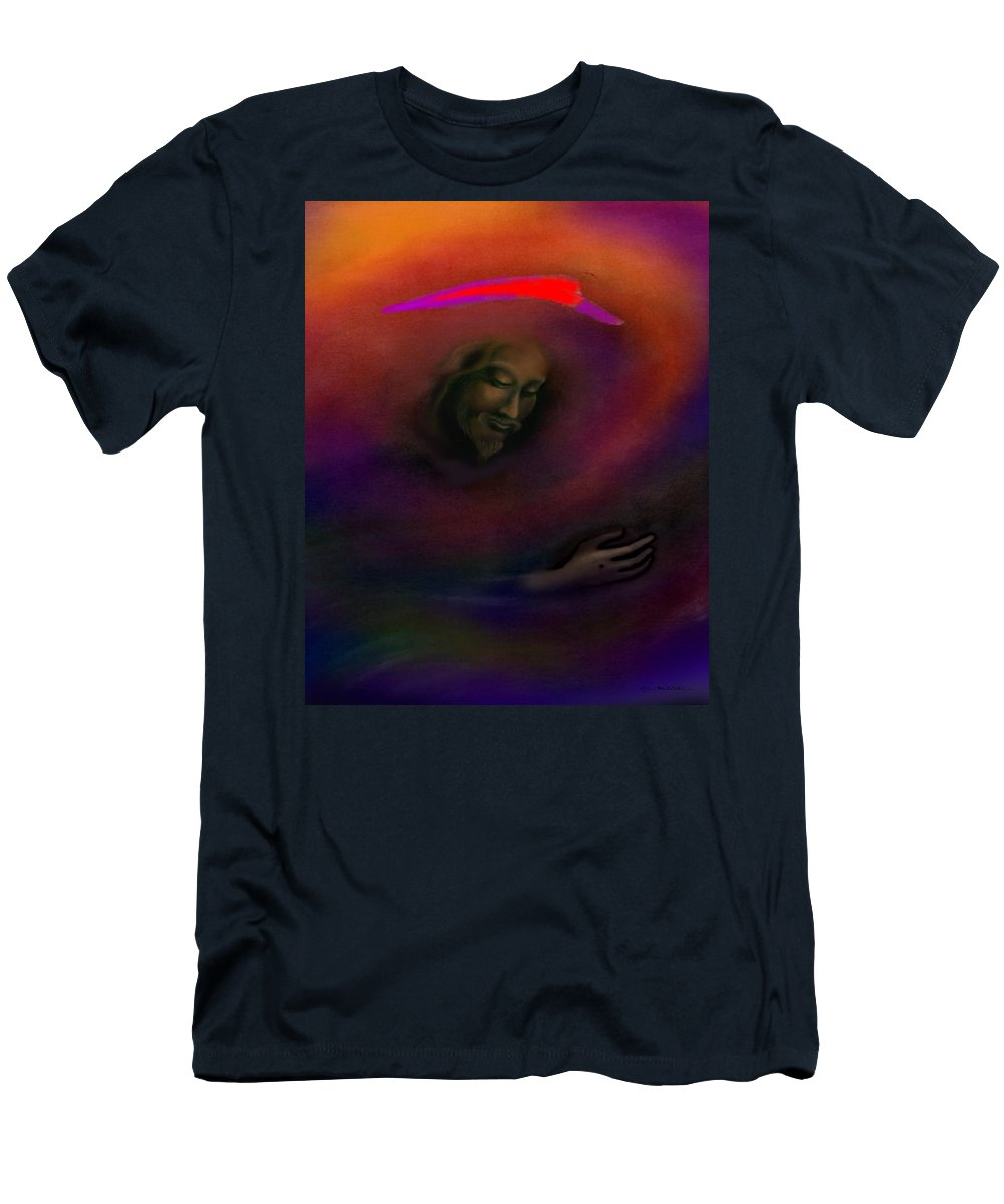 Jesus Men's T-Shirt (Athletic Fit) featuring the painting Christ by Kevin Middleton