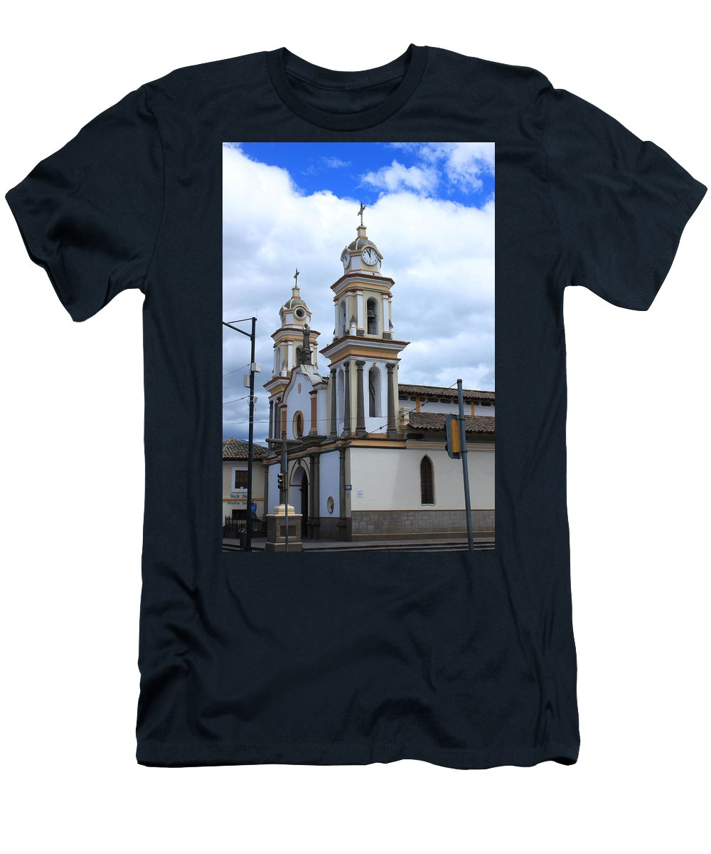 Church Men's T-Shirt (Athletic Fit) featuring the photograph Church Facade by Robert Hamm