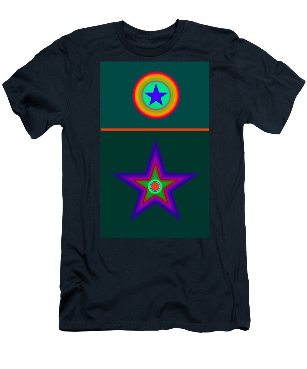 Circus Men's T-Shirt (Athletic Fit) featuring the digital art Circus Vert by Charles Stuart