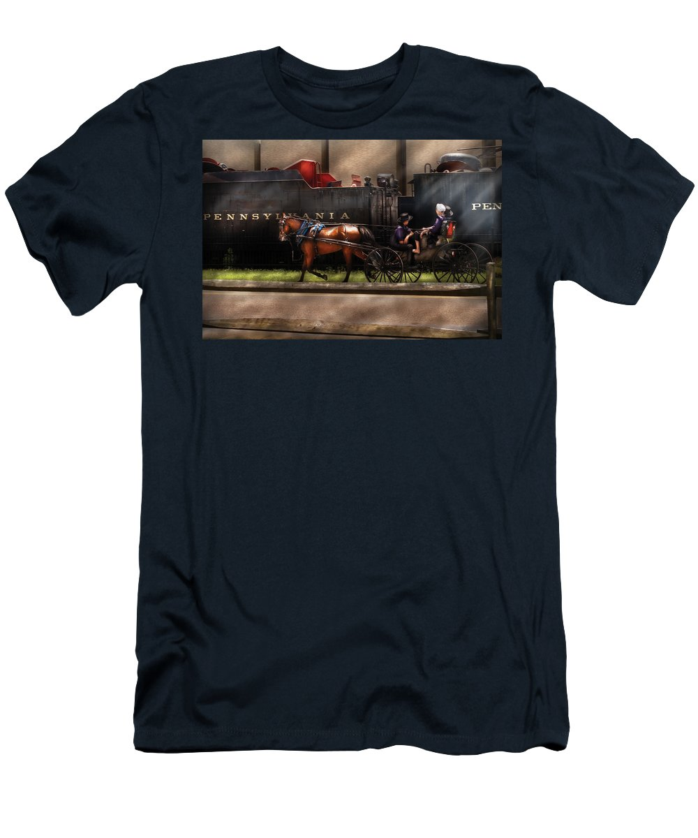 Savad Men's T-Shirt (Athletic Fit) featuring the photograph City - Lancaster Pa - You Got To Love Lancaster by Mike Savad