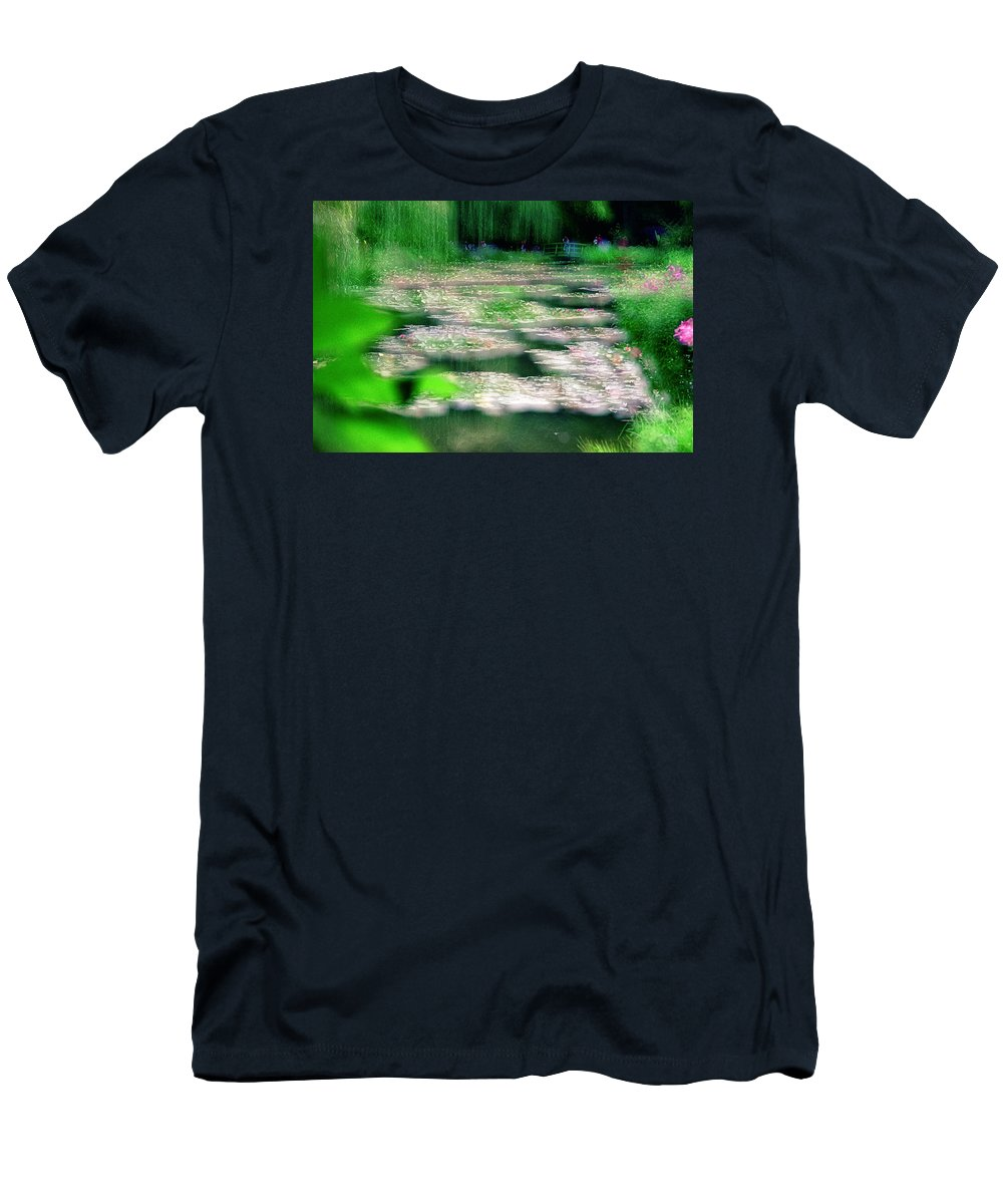 Nature Men's T-Shirt (Athletic Fit) featuring the photograph Claude Monets Water Garden Giverny 1 by Dubi Roman