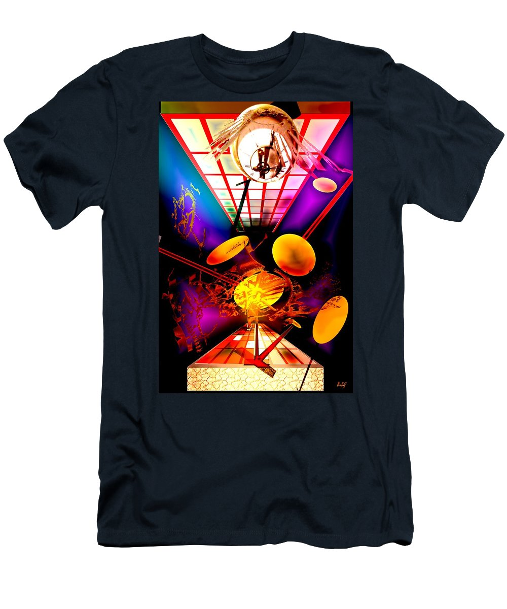 Clock Men's T-Shirt (Athletic Fit) featuring the digital art Clock-sync by Helmut Rottler
