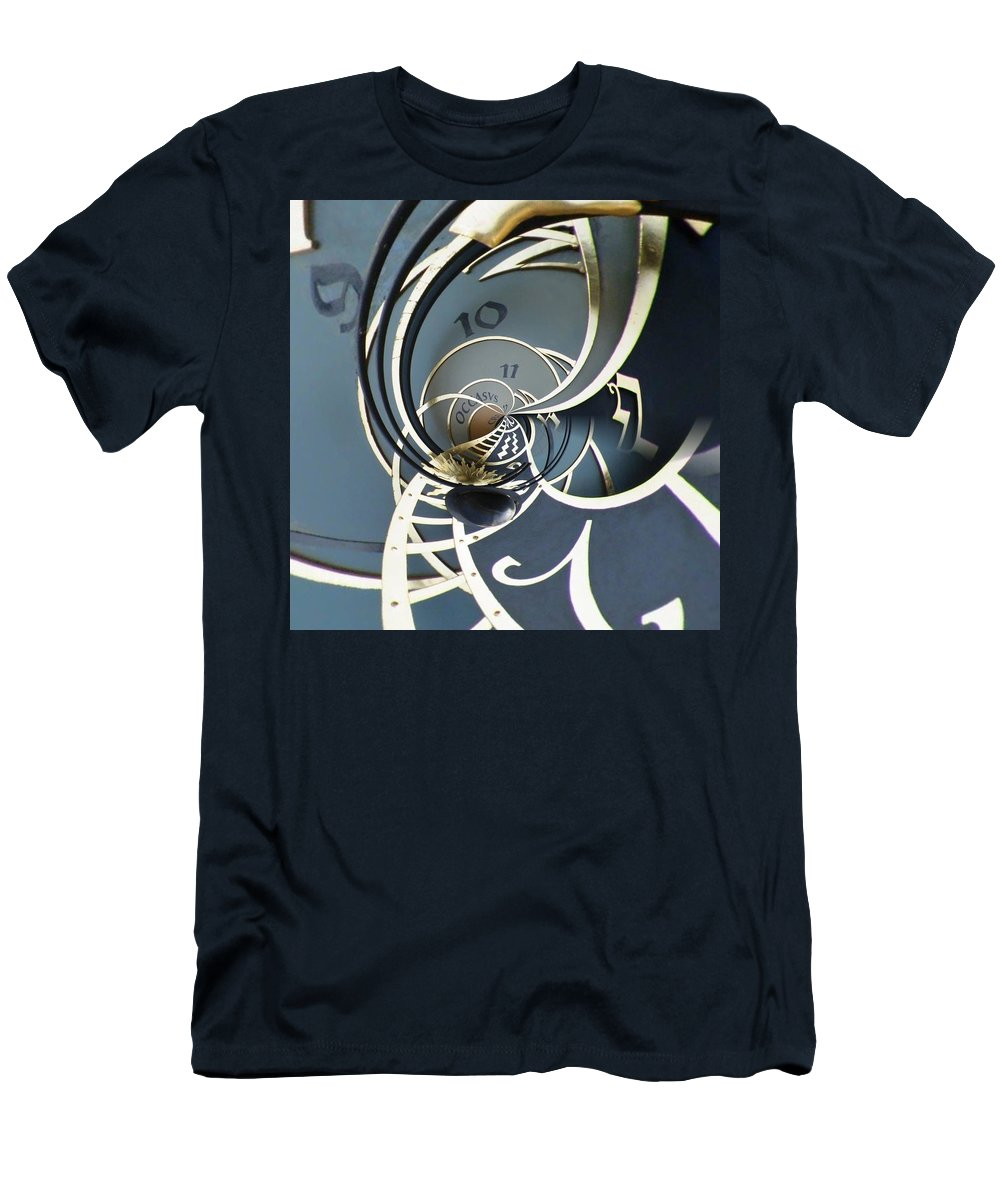 Clock Men's T-Shirt (Athletic Fit) featuring the digital art Clockface1 by Philip Openshaw