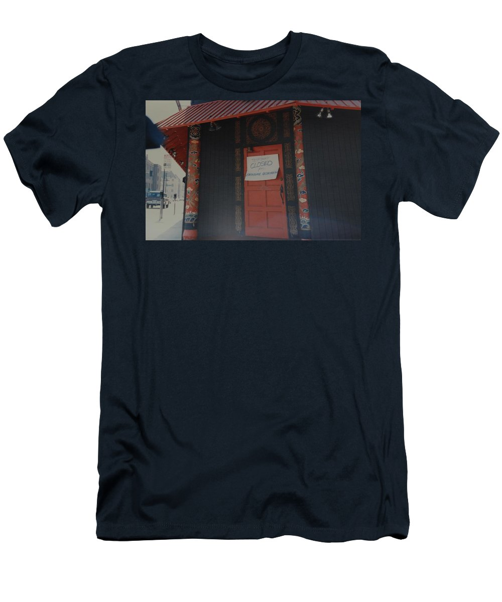 Art Men's T-Shirt (Athletic Fit) featuring the photograph Closed For Earthquake by Rob Hans