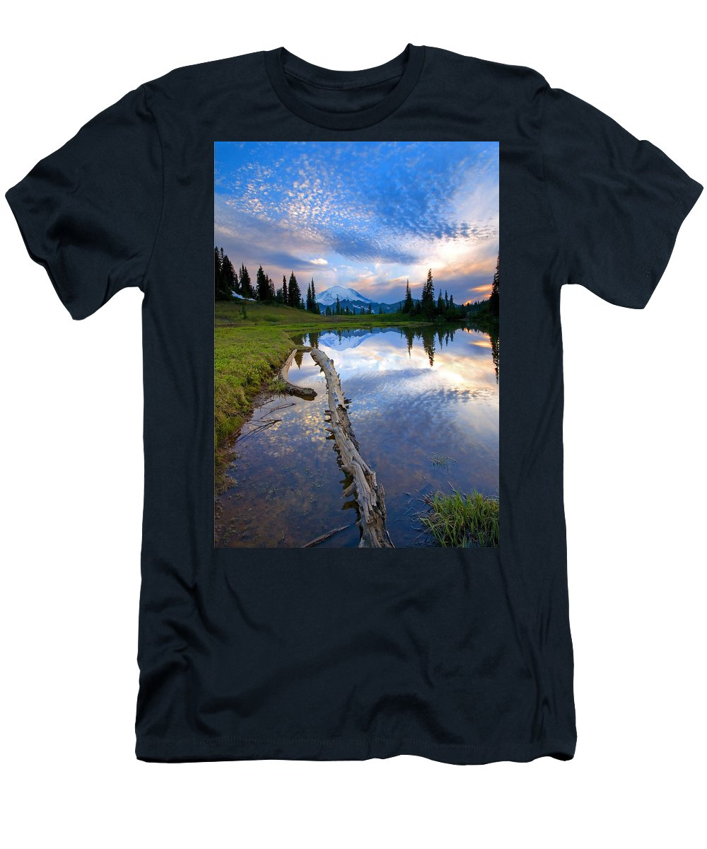 Landscape Men's T-Shirt (Athletic Fit) featuring the photograph Cloud Explosion by Mike Dawson