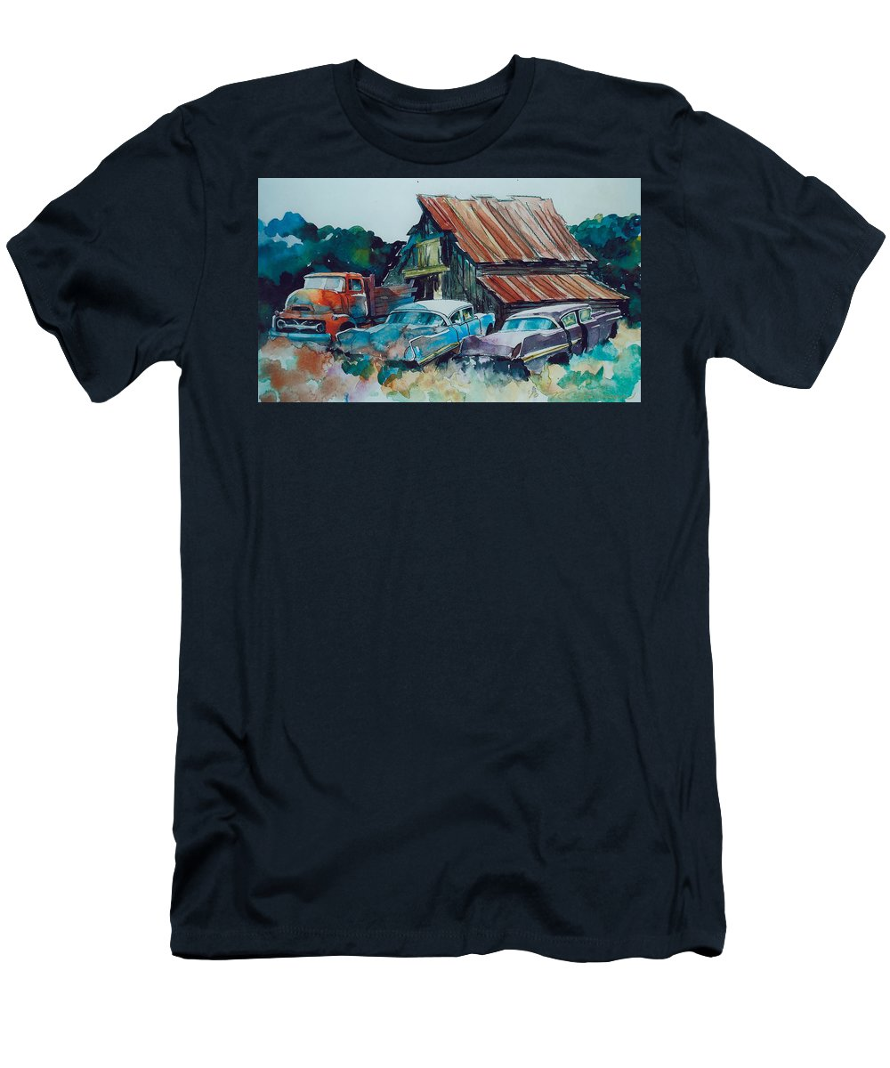 Ford Cabover T-Shirt featuring the painting Cluster of Restorables by Ron Morrison