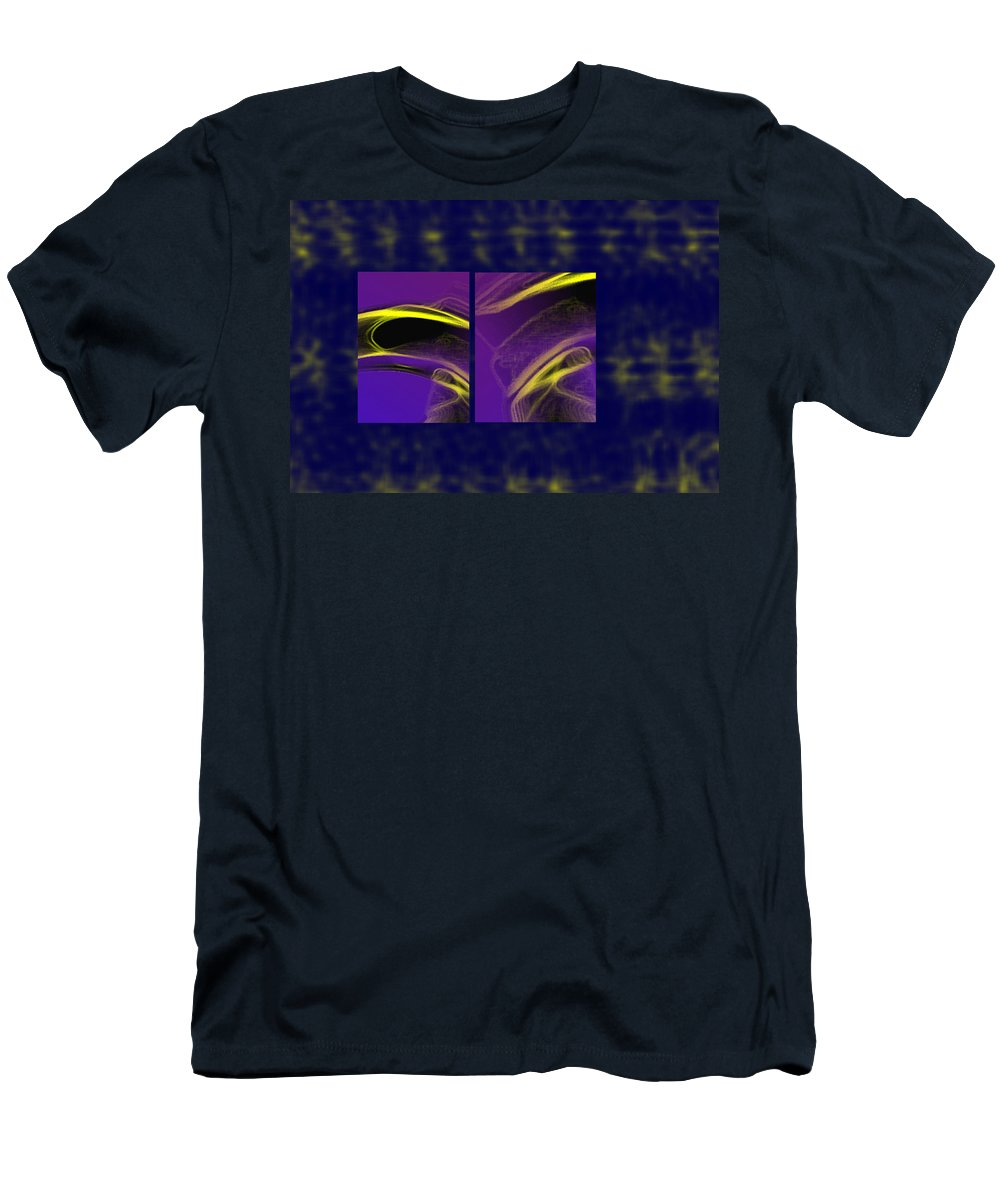 Abstract Men's T-Shirt (Athletic Fit) featuring the digital art Cobra by Steve Karol