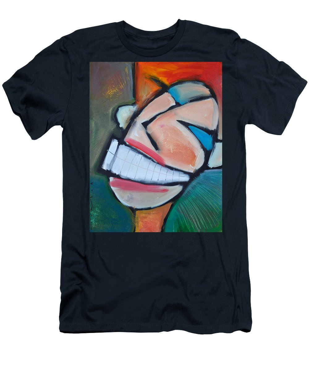 Smile Men's T-Shirt (Athletic Fit) featuring the painting Coconut Bread by Tim Nyberg