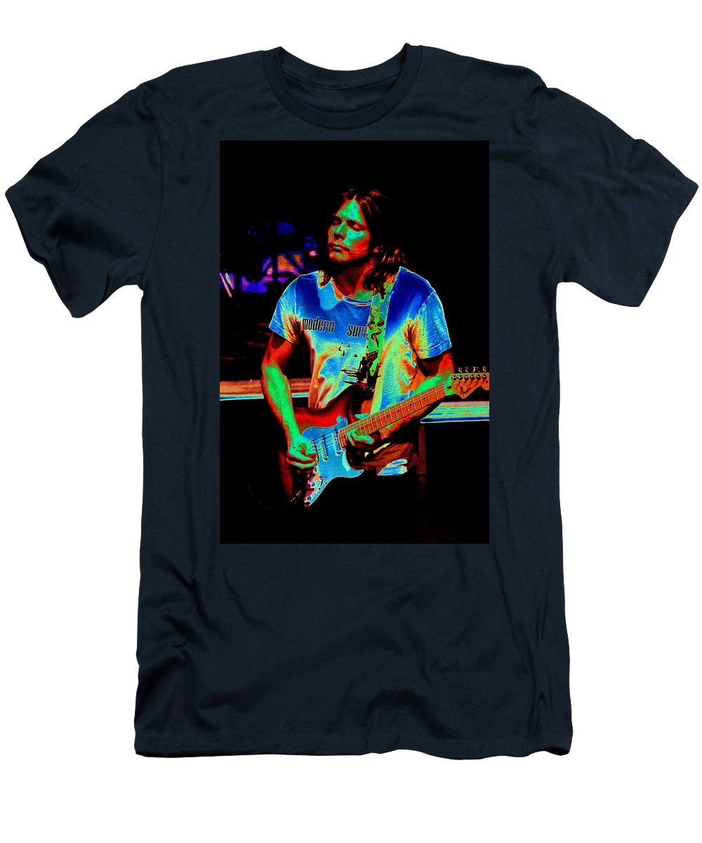 Lukas Nelson Men's T-Shirt (Athletic Fit) featuring the photograph Colored Toppers by Ben Upham