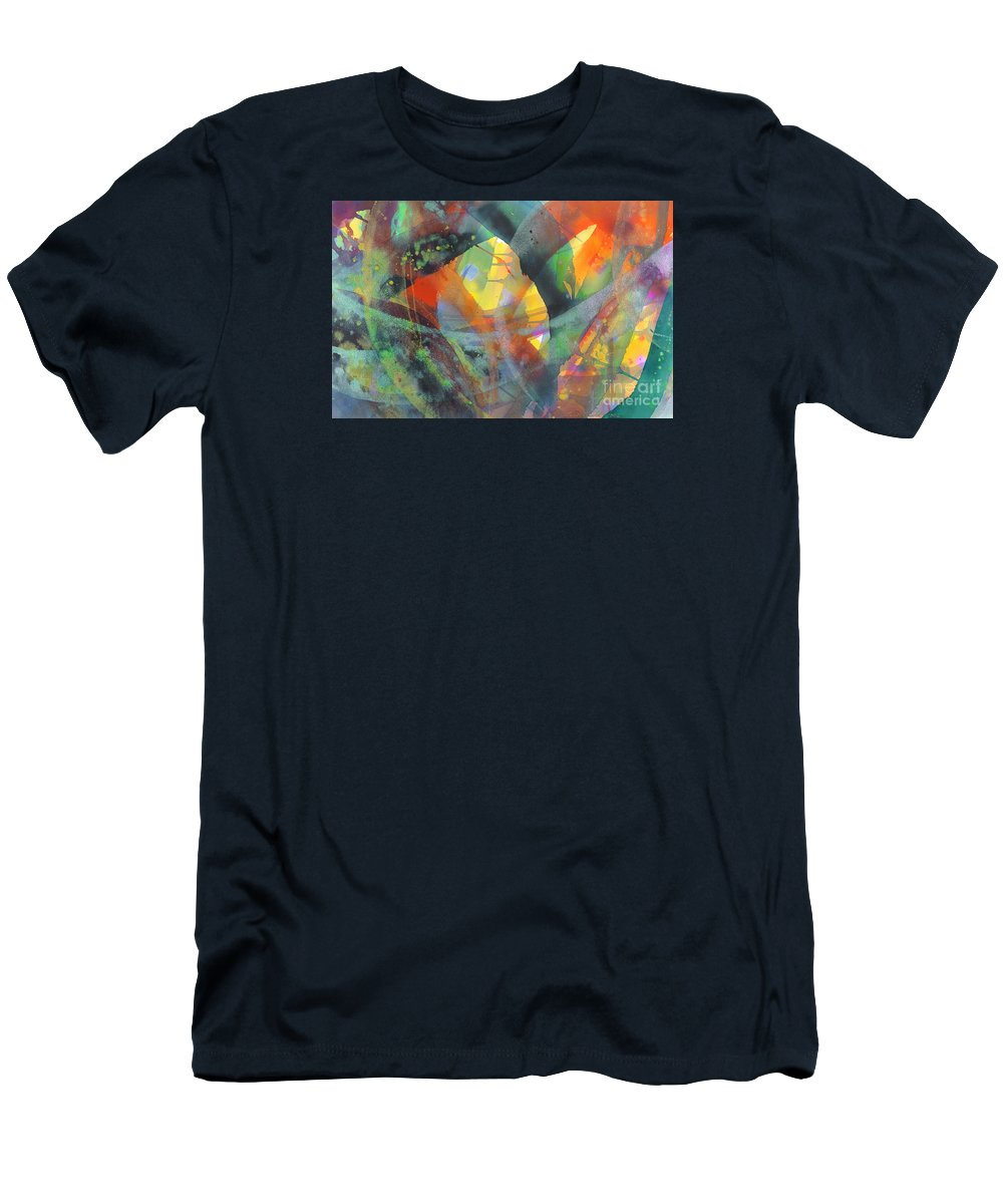 Abstract Men's T-Shirt (Slim Fit) featuring the painting Connections by Lucy Arnold