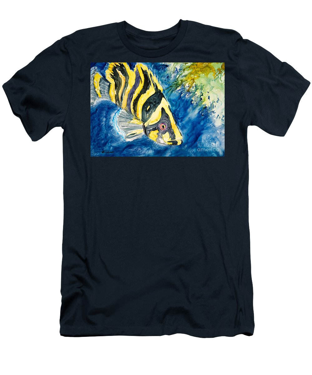 Alongside Men's T-Shirt (Athletic Fit) featuring the painting Coral Trees by Tanya L Haynes - Printscapes