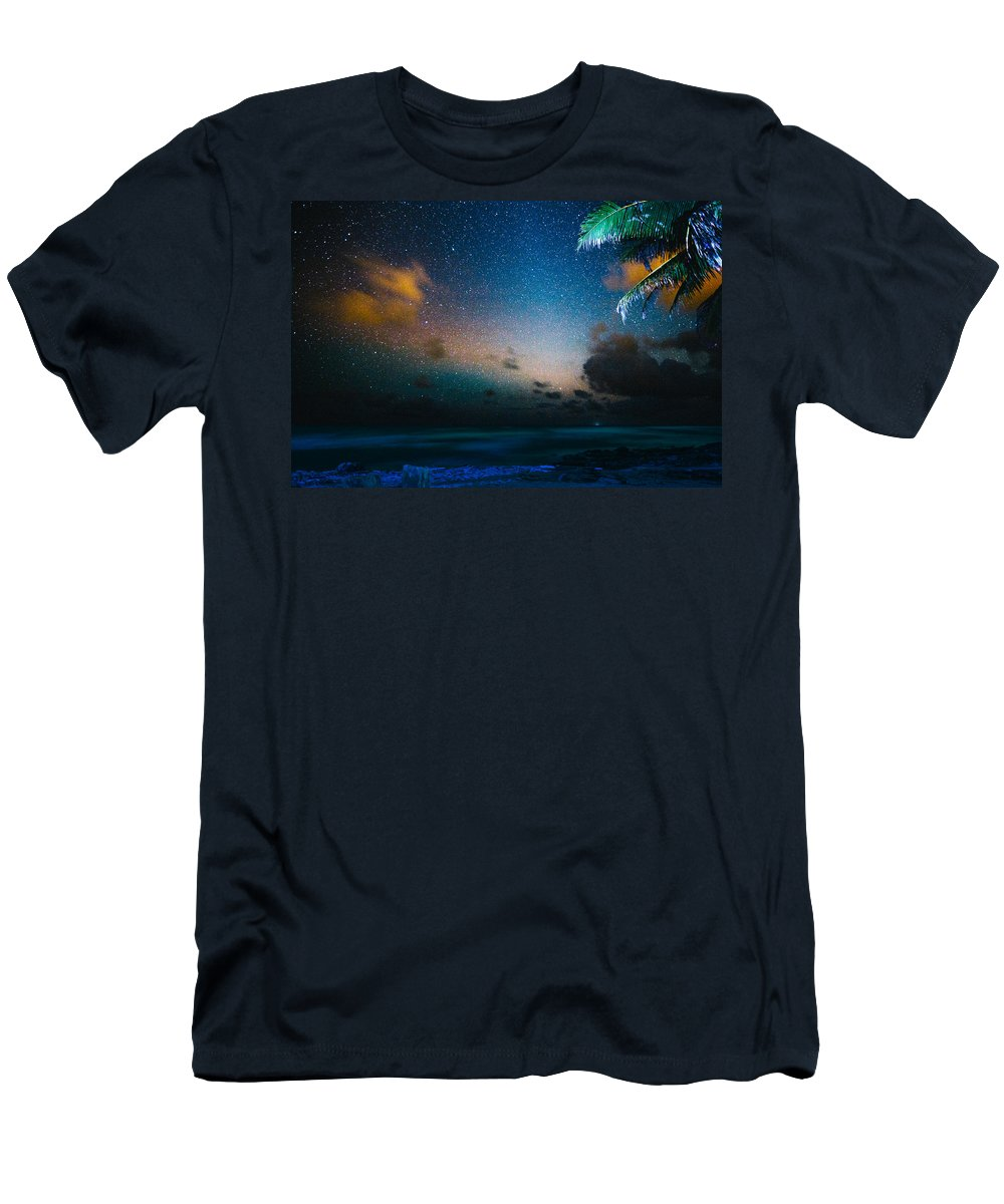 Stars Men's T-Shirt (Athletic Fit) featuring the photograph Costa Rican Starscape by Lance Laurence