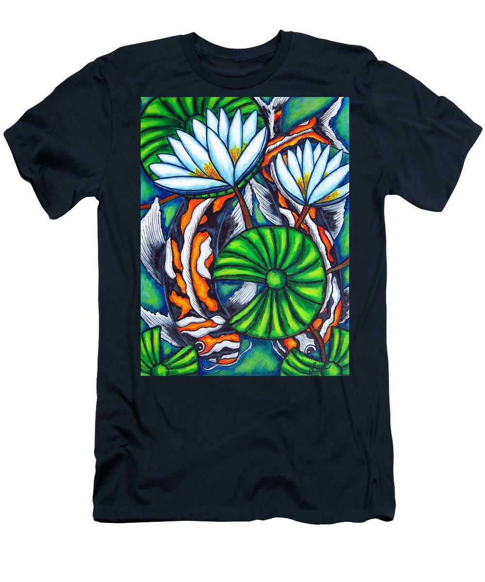 Koi T-Shirt featuring the painting Coy Carp by Lisa Lorenz