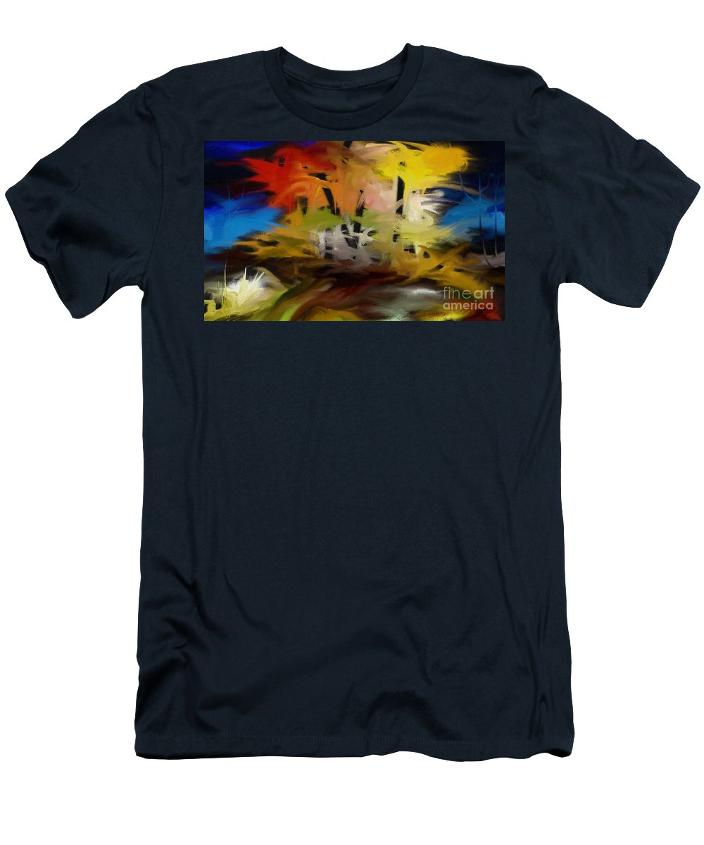 Digital Men's T-Shirt (Athletic Fit) featuring the painting Crazy Nature by Rushan Ruzaick