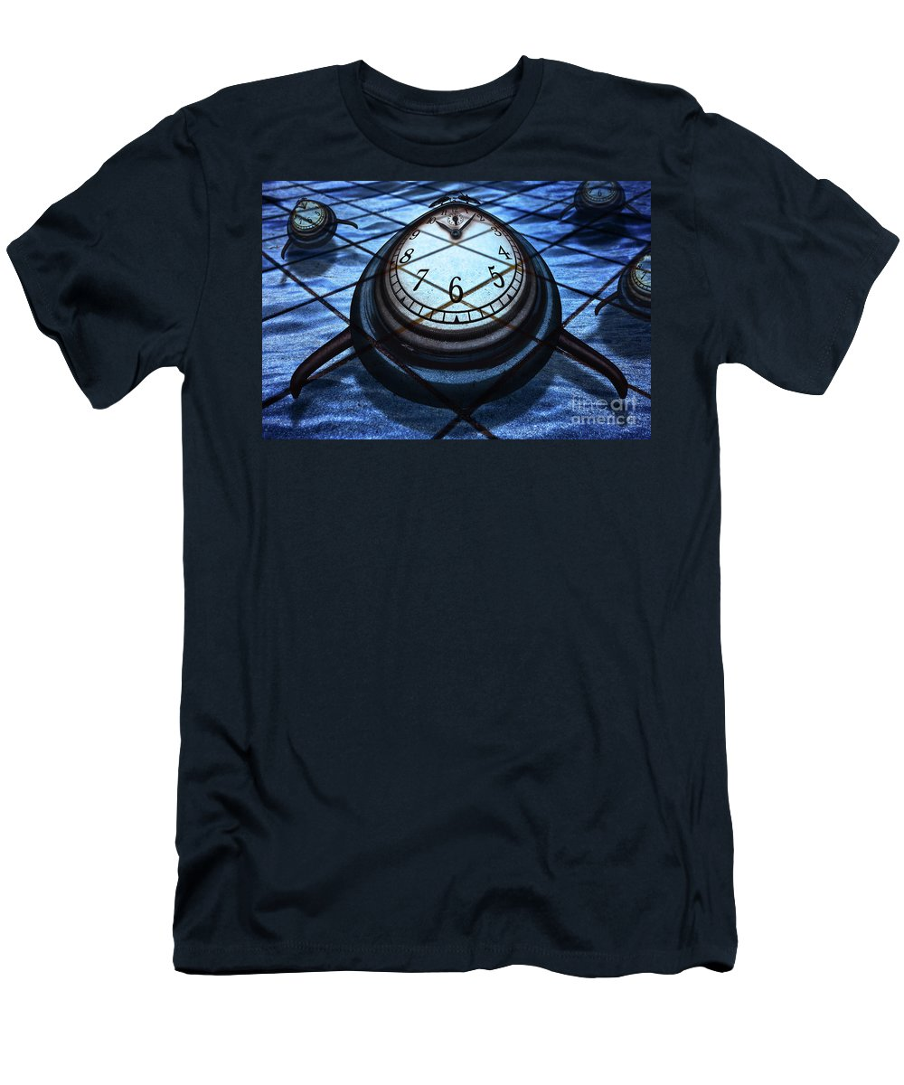 Countdown Men's T-Shirt (Athletic Fit) featuring the digital art Creative Time by Etienne Outram