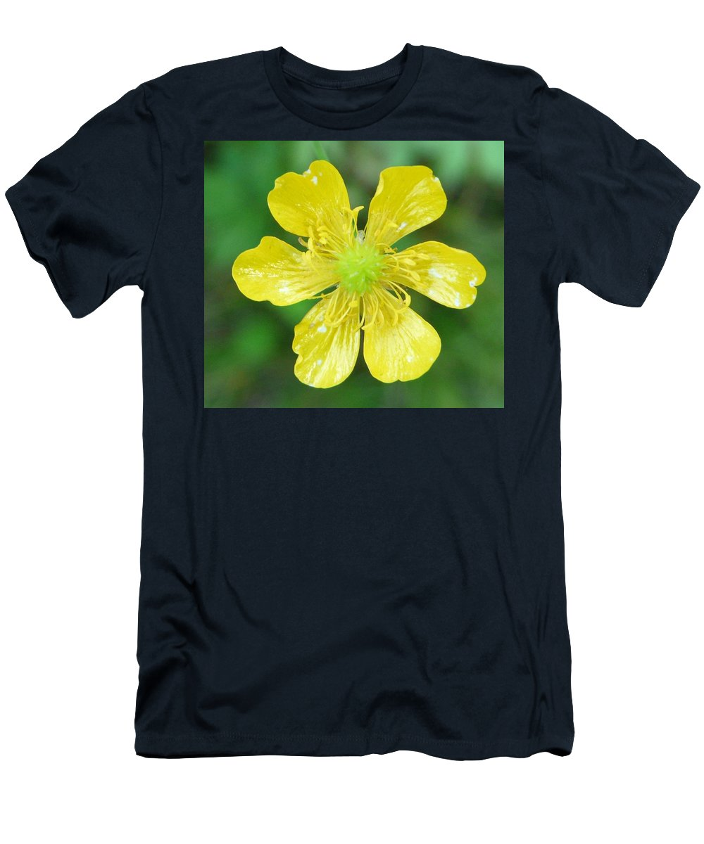 Flower Men's T-Shirt (Athletic Fit) featuring the photograph Creeping Buttercup by Valerie Ornstein
