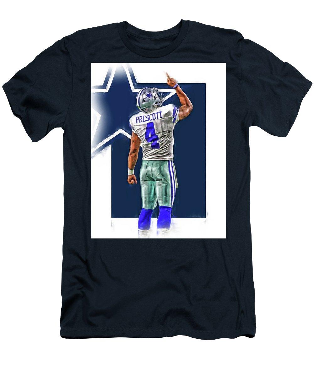 buy popular 9541b 4e4f5 Dak Prescott Dallas Cowboys Oil Art Series 2 Men's T-Shirt (Athletic Fit)