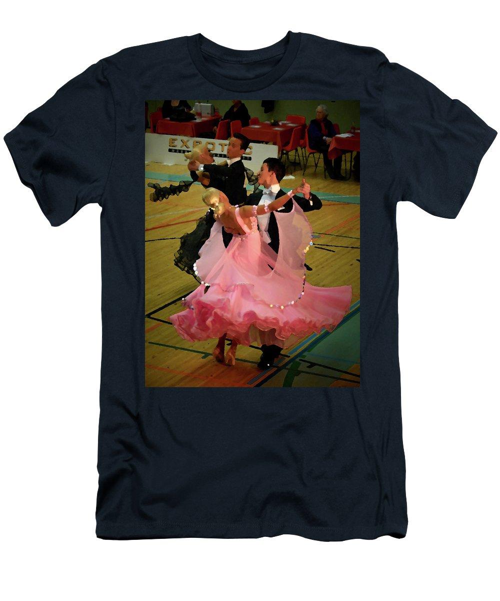 Lehtokukka Men's T-Shirt (Athletic Fit) featuring the photograph Dance Contest Nr 13 by Jouko Lehto