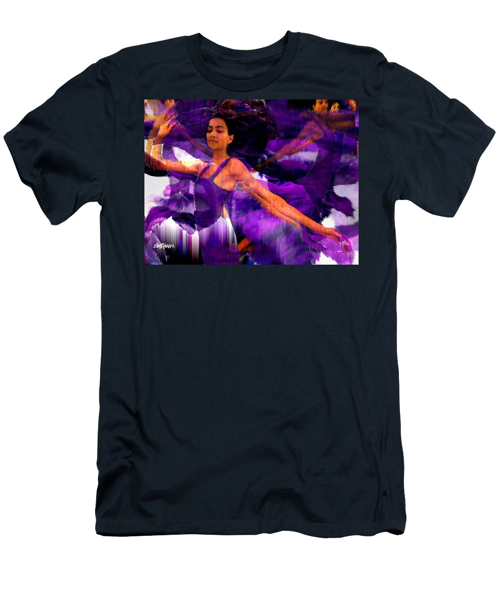 Mystical Men's T-Shirt (Athletic Fit) featuring the digital art Dance Of The Purple Veil by Seth Weaver