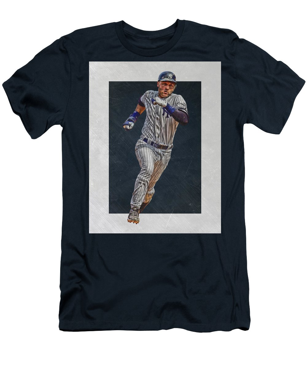 new concept 10cc4 d7354 Derek Jeter New York Yankees Art 3 Men's T-Shirt (Athletic Fit)