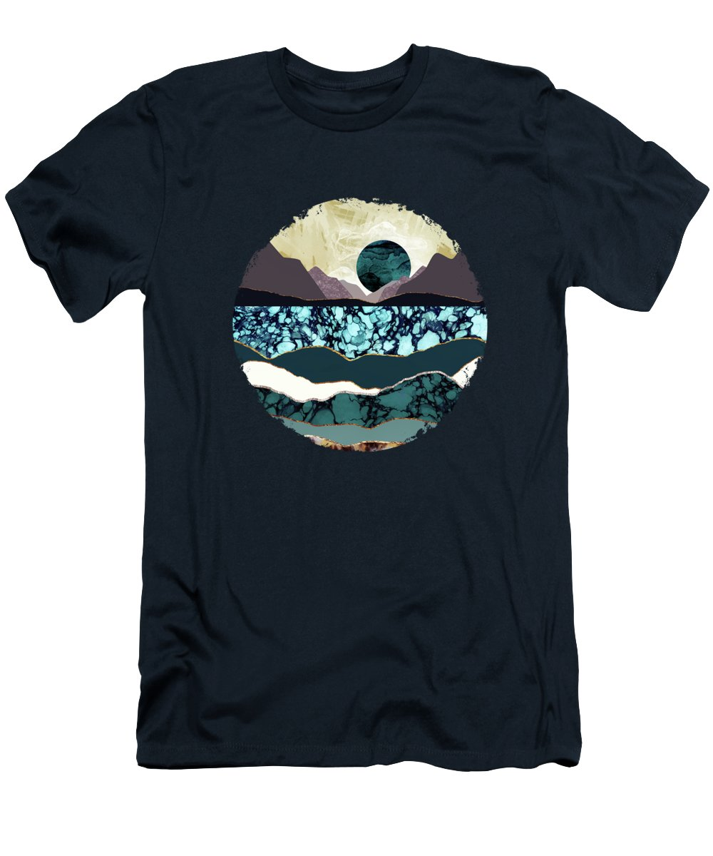 Desert T-Shirt featuring the digital art Desert Lake by Katherine Smit