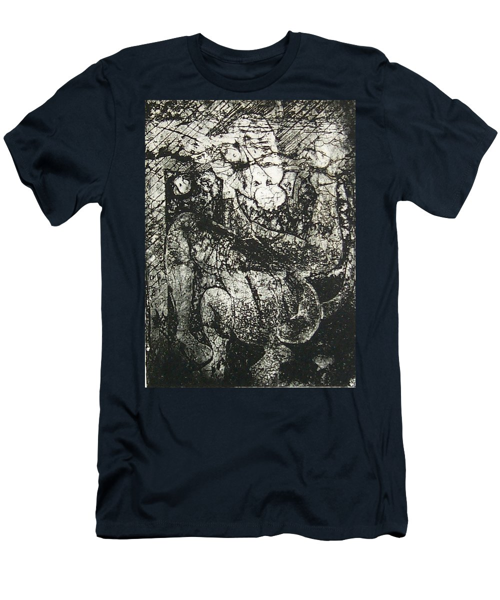 Etching Men's T-Shirt (Athletic Fit) featuring the print Destroy Plate by Thomas Valentine