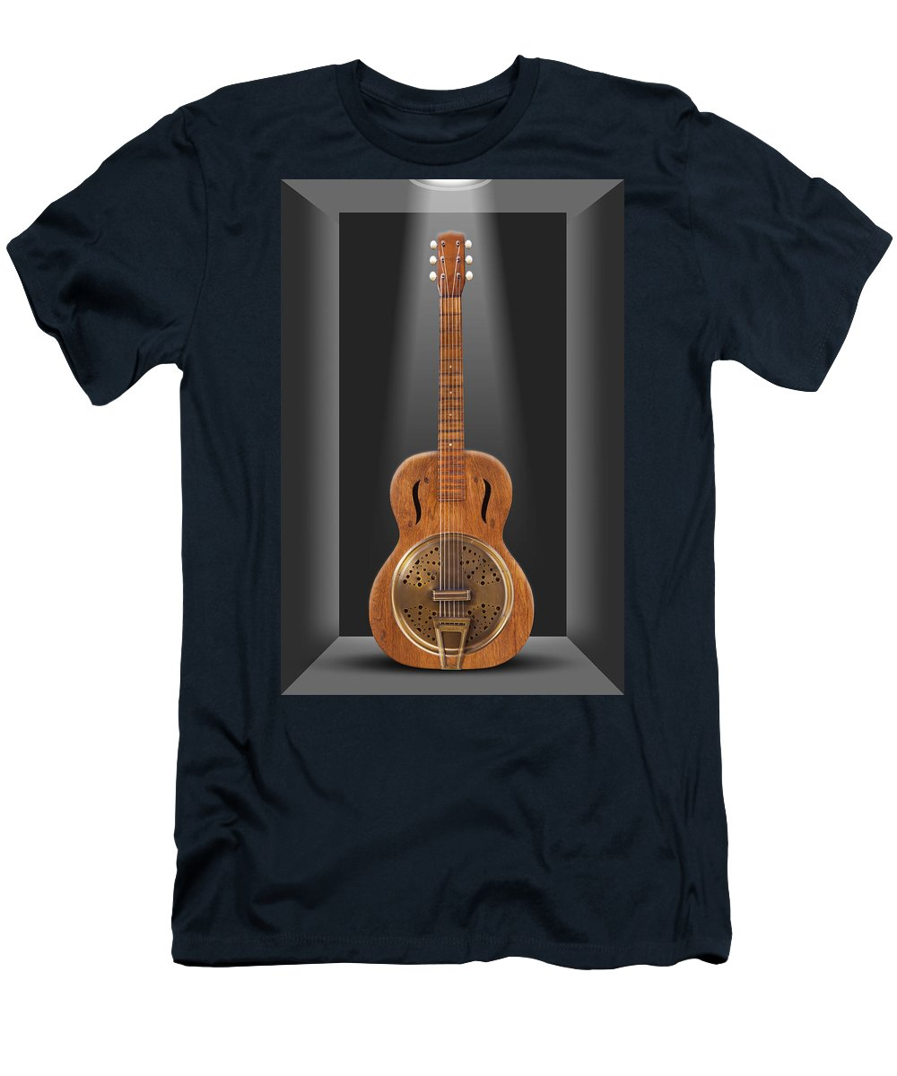 Spot Light Men's T-Shirt (Athletic Fit) featuring the photograph Dobro In A Box by Mike McGlothlen
