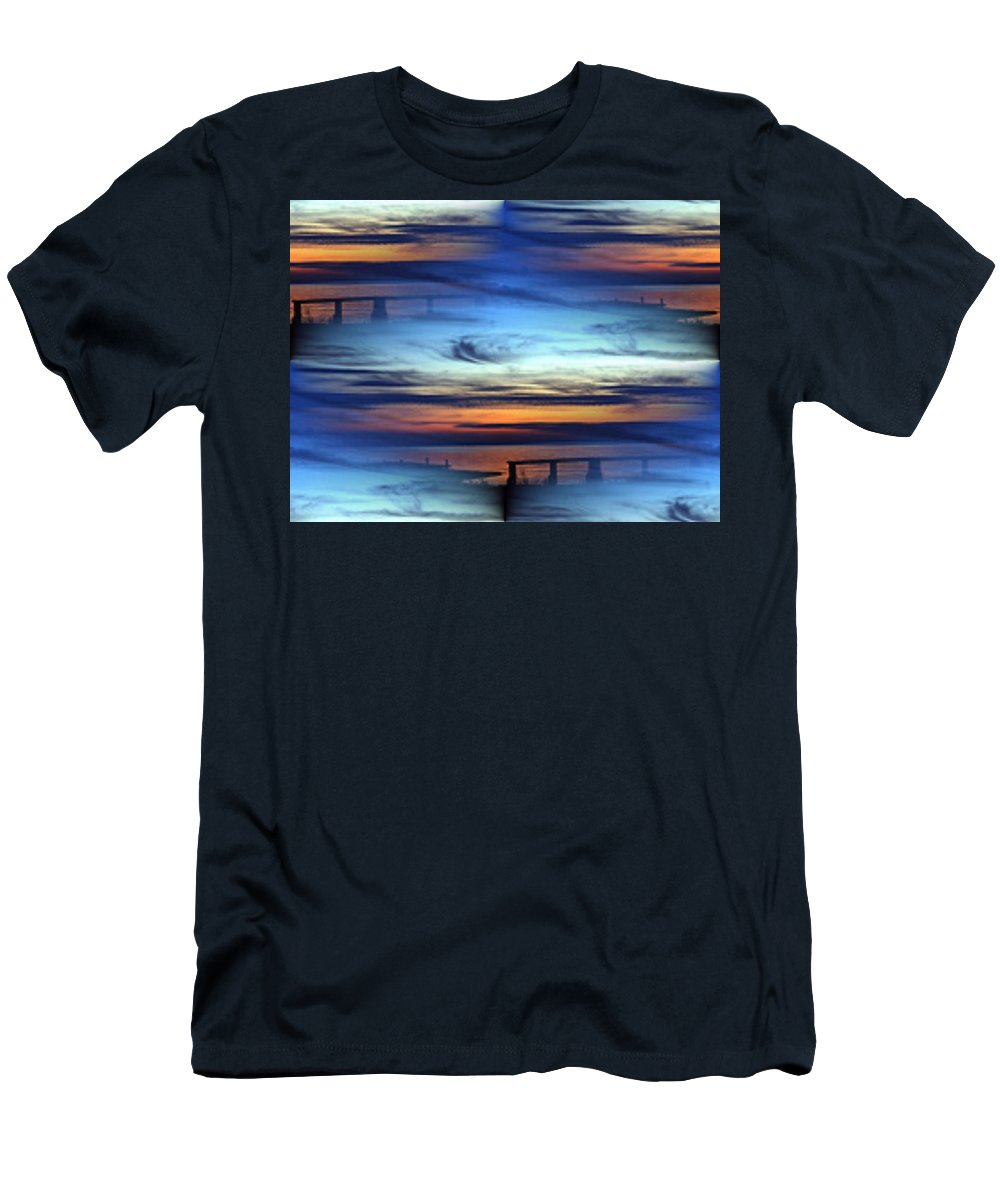 Dock Men's T-Shirt (Athletic Fit) featuring the photograph Dock Of The Bay by Tim Allen