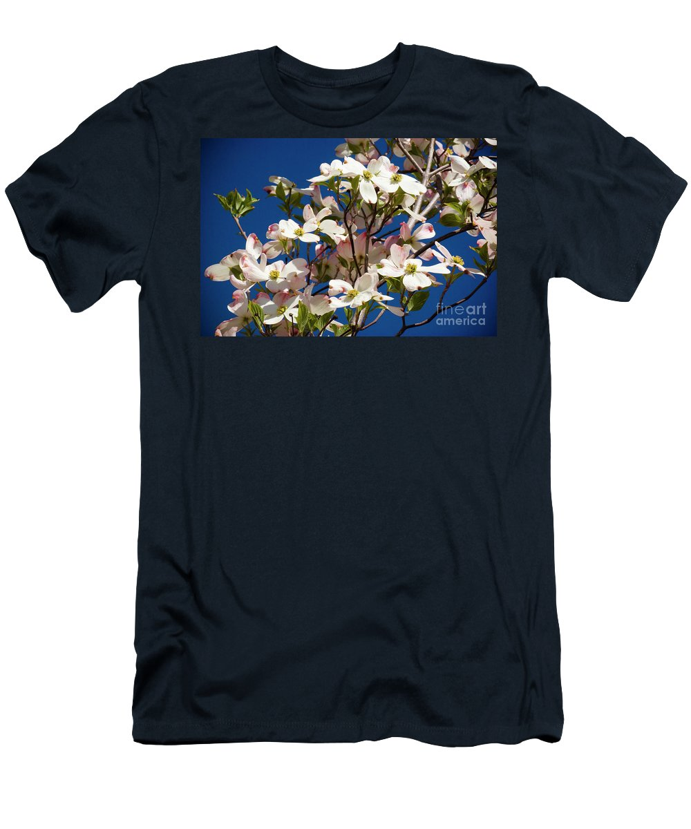 Dogwood Men's T-Shirt (Athletic Fit) featuring the photograph Dogwood Sky by Jim And Emily Bush