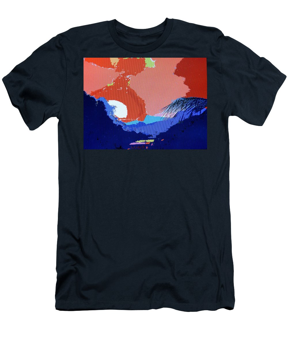 Digital Art Men's T-Shirt (Athletic Fit) featuring the photograph Dominican Sunset by Ian MacDonald