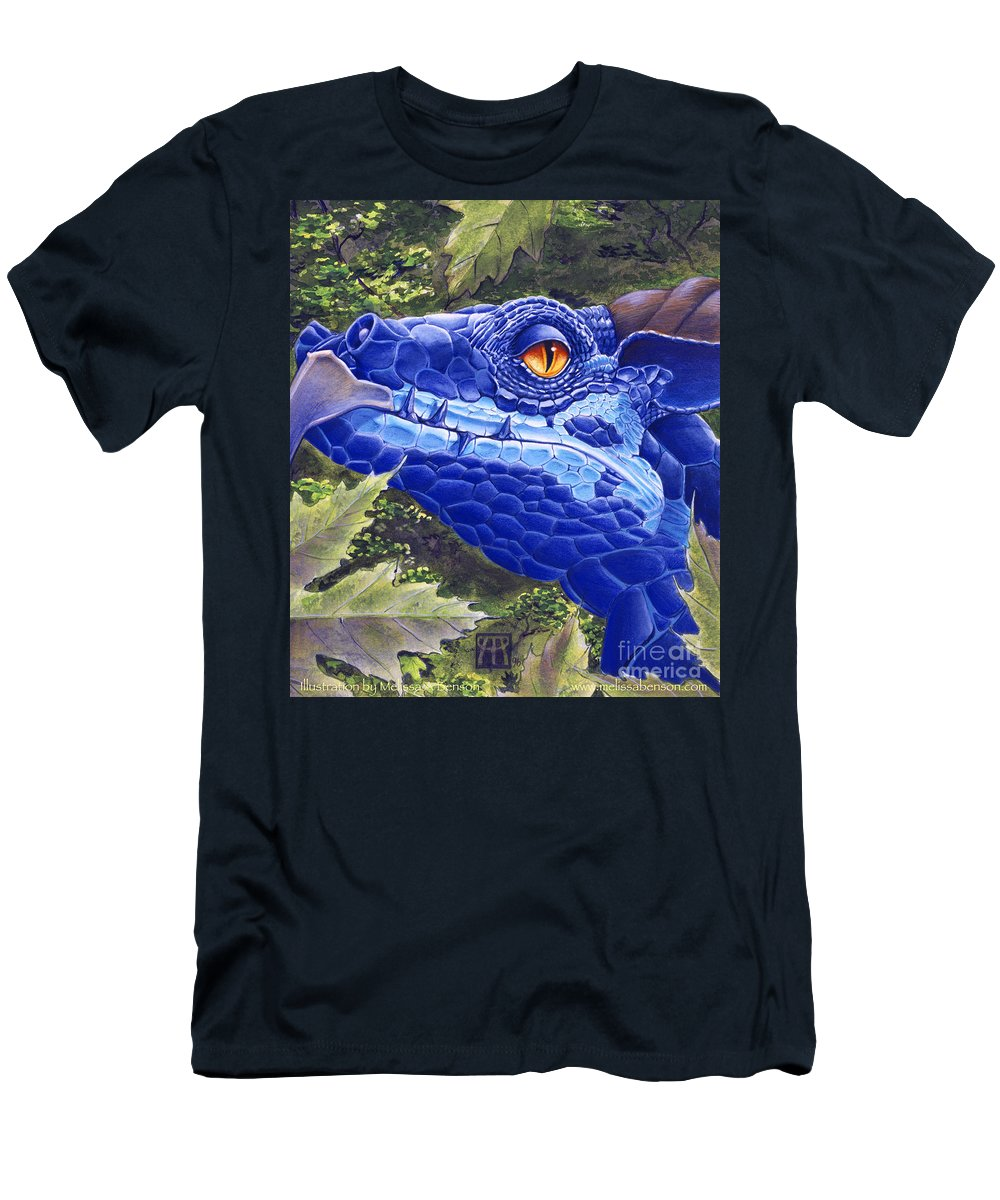 Dragon T-Shirt featuring the painting Dragon Eyes by Melissa A Benson