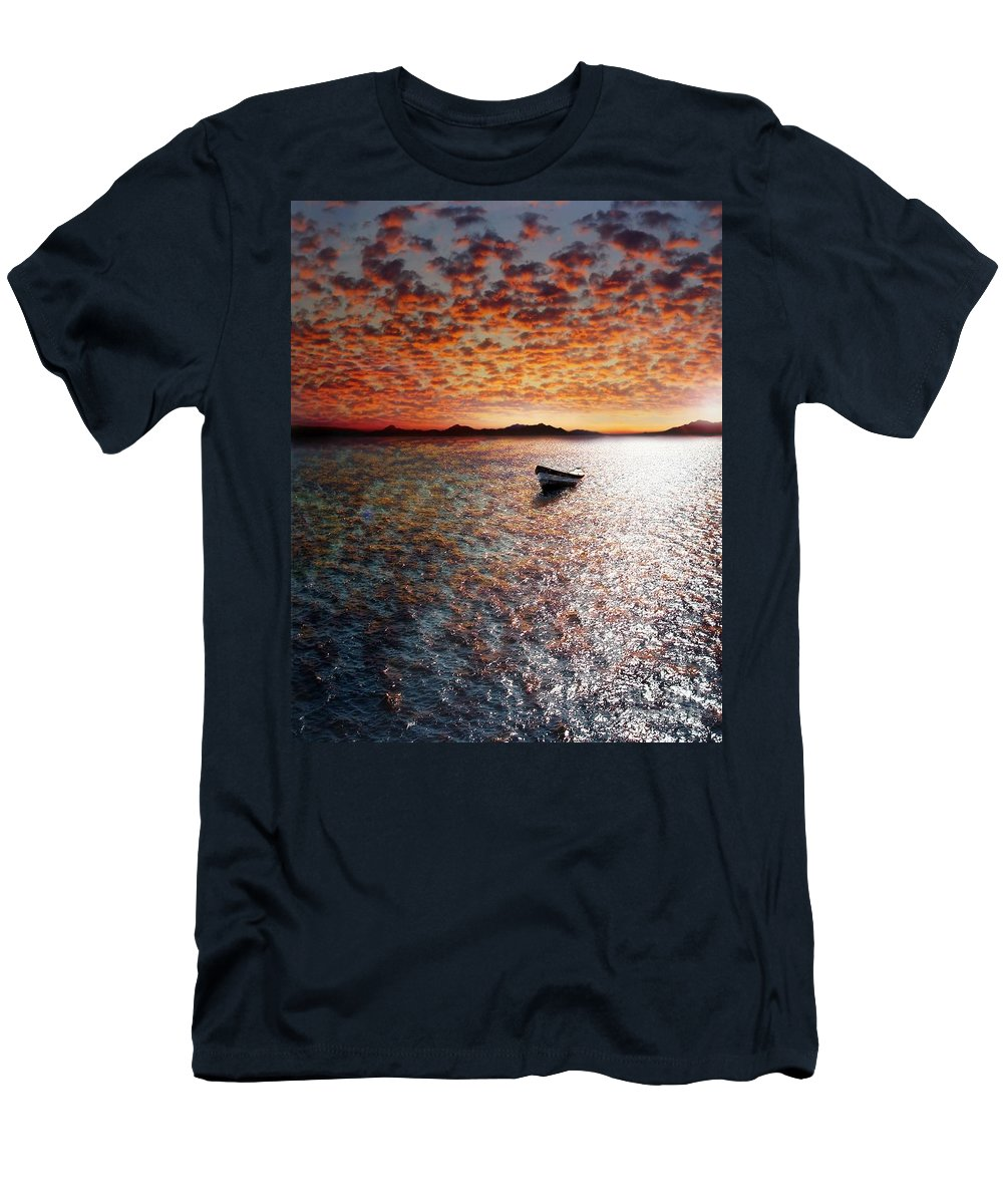 Ocean Men's T-Shirt (Athletic Fit) featuring the photograph Drift Away by Jacky Gerritsen
