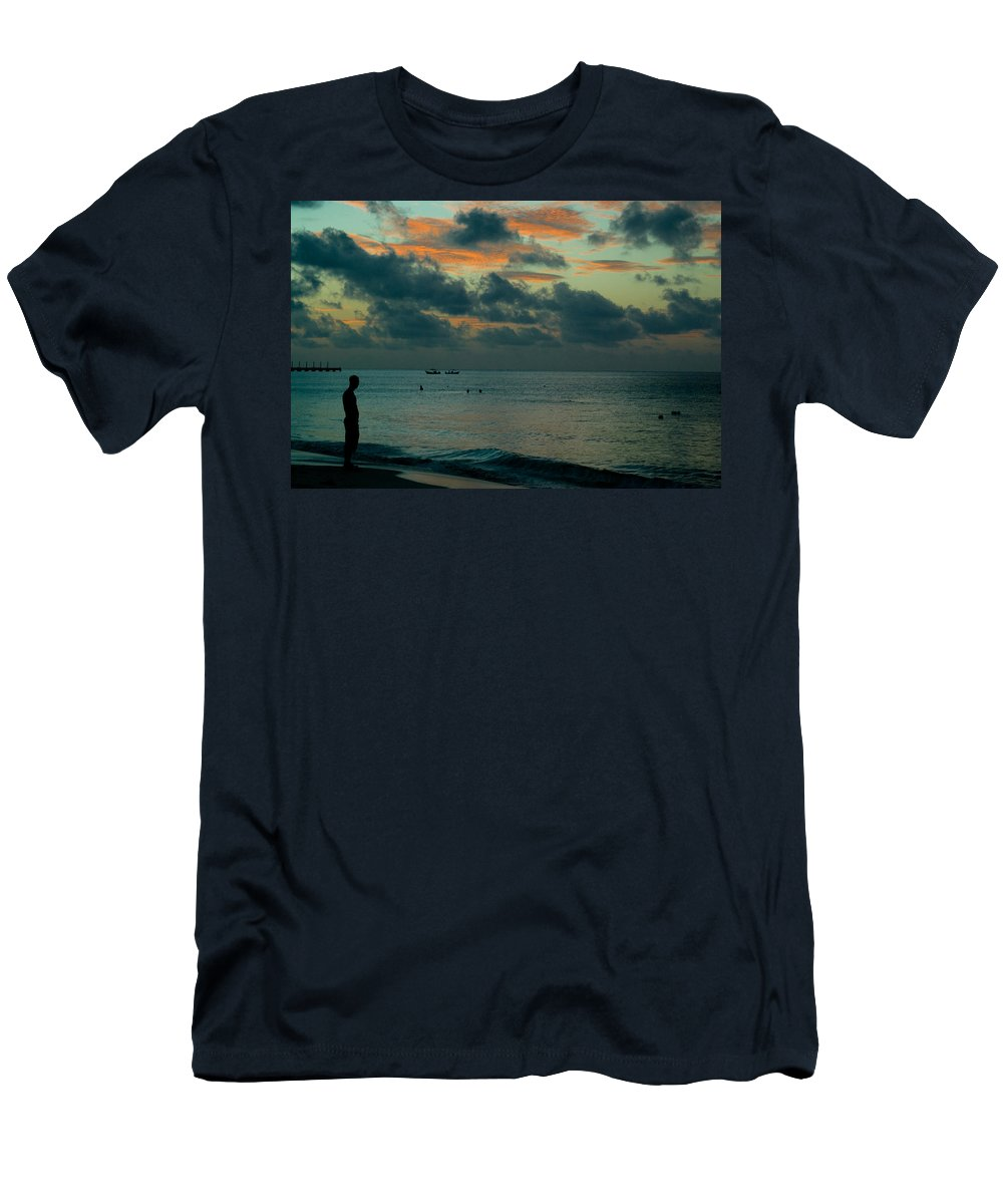 Sea Men's T-Shirt (Athletic Fit) featuring the photograph Early Morning Sea by Douglas Barnett