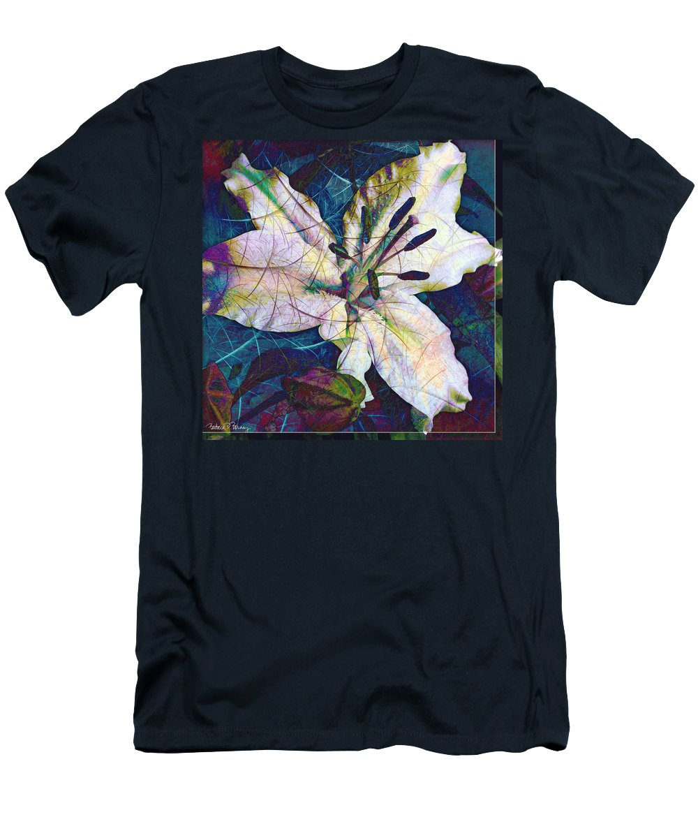 Easter Men's T-Shirt (Athletic Fit) featuring the digital art Easter Lily by Barbara Berney