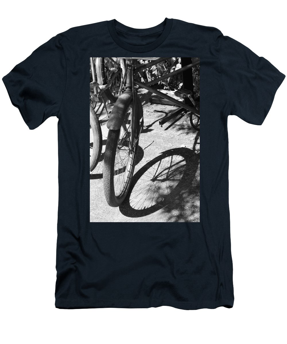 Bike Men's T-Shirt (Athletic Fit) featuring the photograph Elgin Bicycle Shadow by Lauri Novak