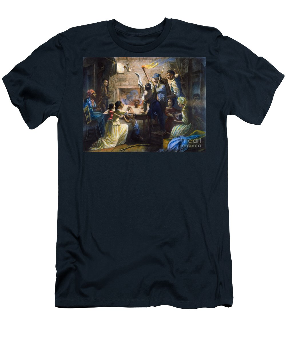 1863 Men's T-Shirt (Athletic Fit) featuring the photograph Emancipation Proclamation by Granger