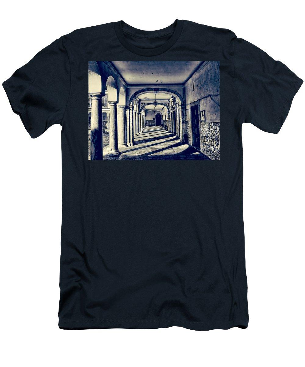 Portugal Men's T-Shirt (Athletic Fit) featuring the photograph Evora University 2 by Claude LeTien