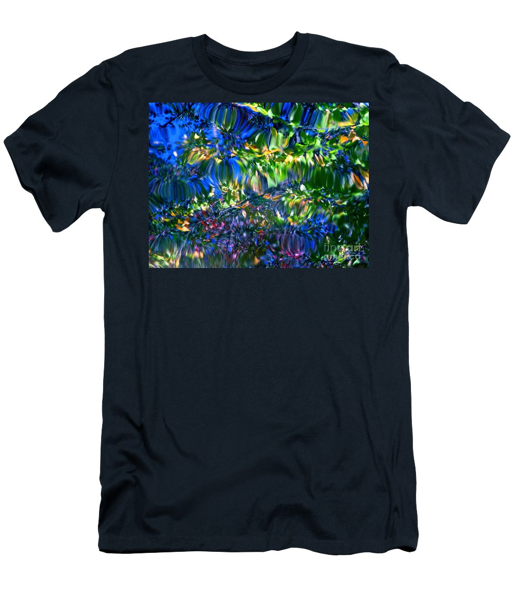Water Men's T-Shirt (Athletic Fit) featuring the photograph Faerie Frenzy by Sybil Staples