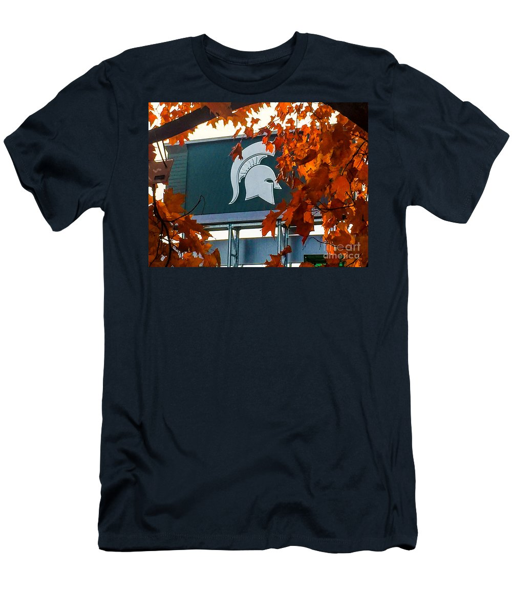 Msu Men's T-Shirt (Athletic Fit) featuring the photograph Fall Is Football by Joseph Yarbrough
