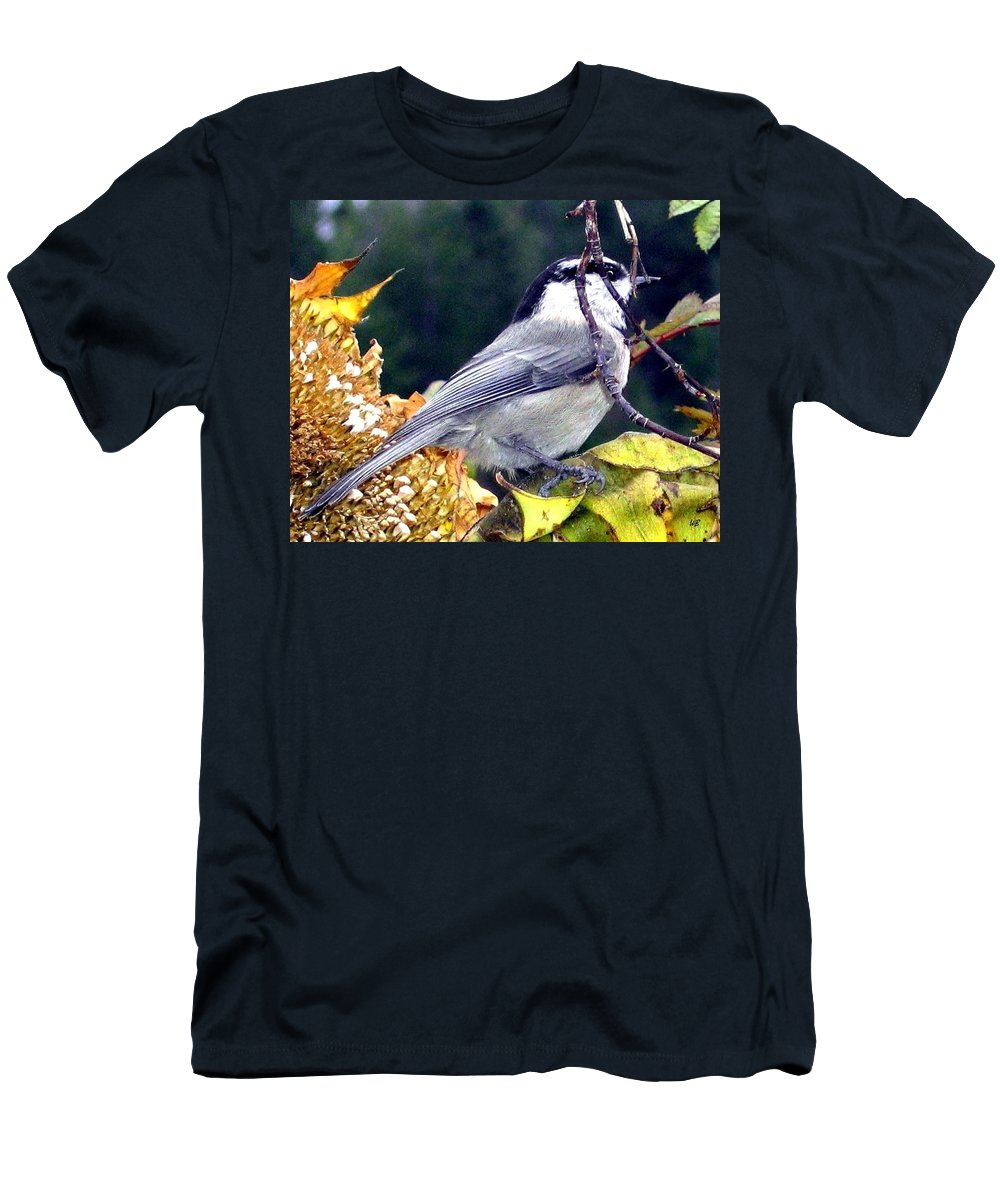 Autumn Men's T-Shirt (Athletic Fit) featuring the photograph Feast For A Chickadee by Will Borden