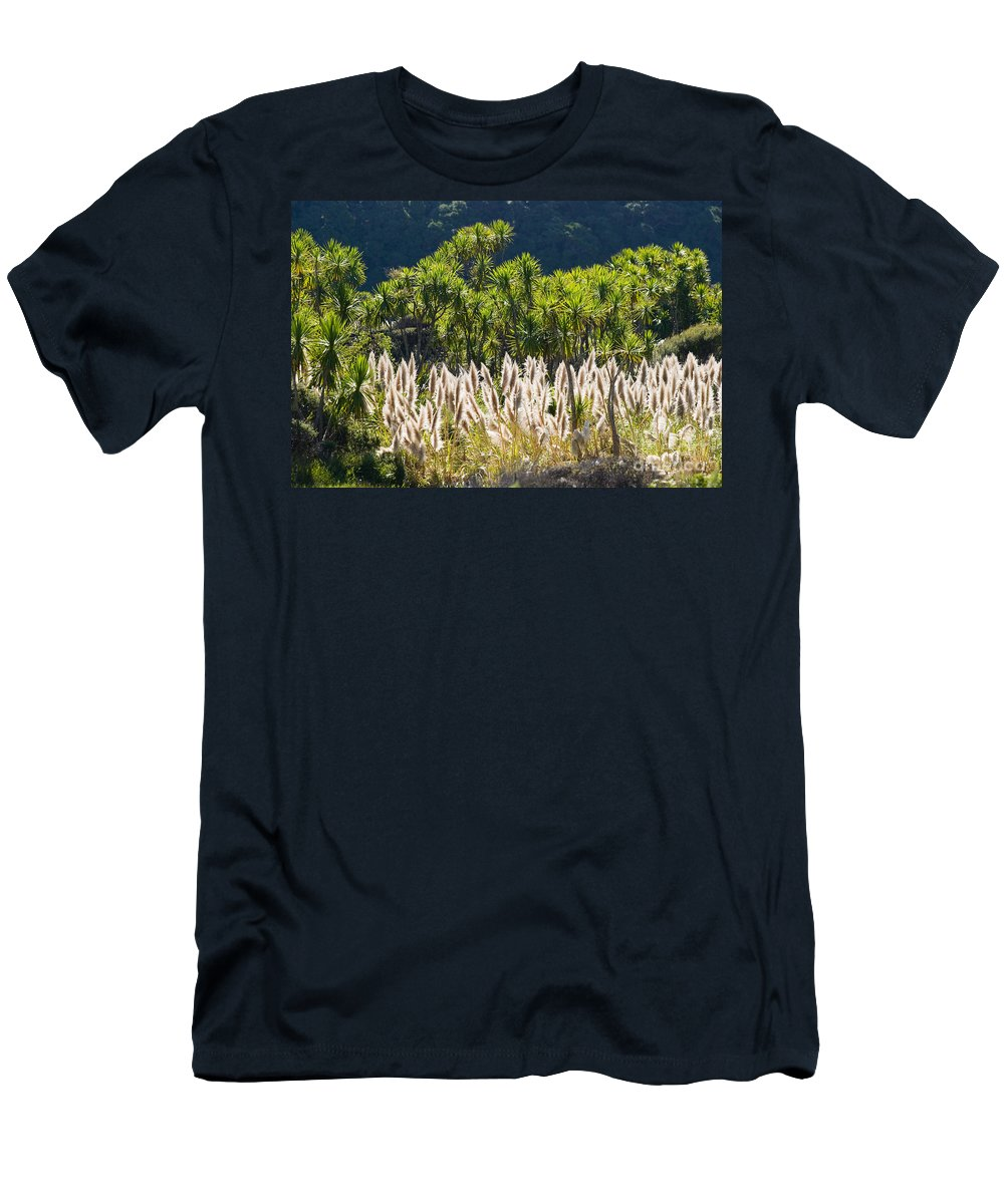 Afternoon Men's T-Shirt (Athletic Fit) featuring the photograph Feathery White Plants by Tomas del Amo - Printscapes