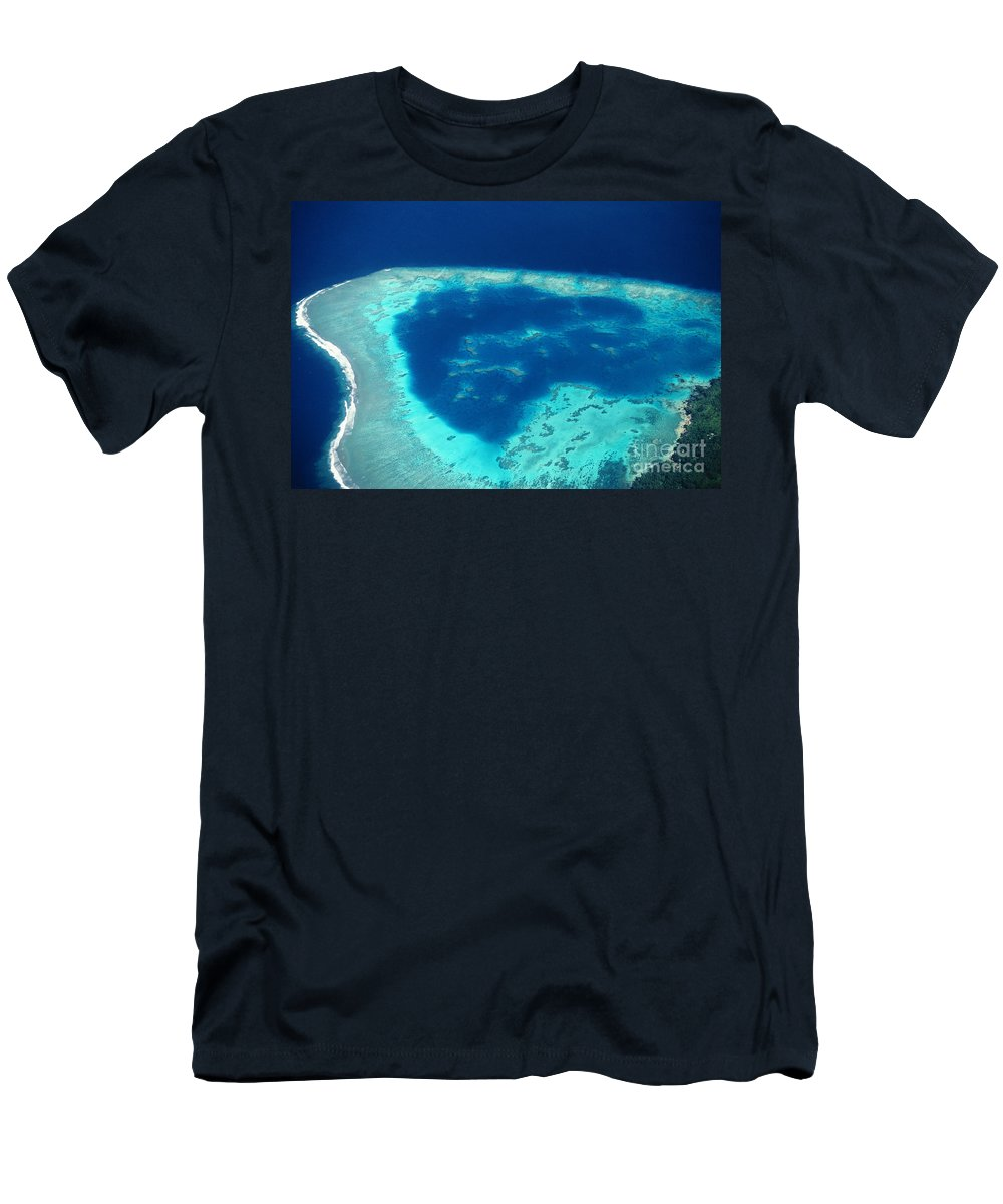 Above Men's T-Shirt (Athletic Fit) featuring the photograph Fiji Aerial by Doug Cameron - Printscapes