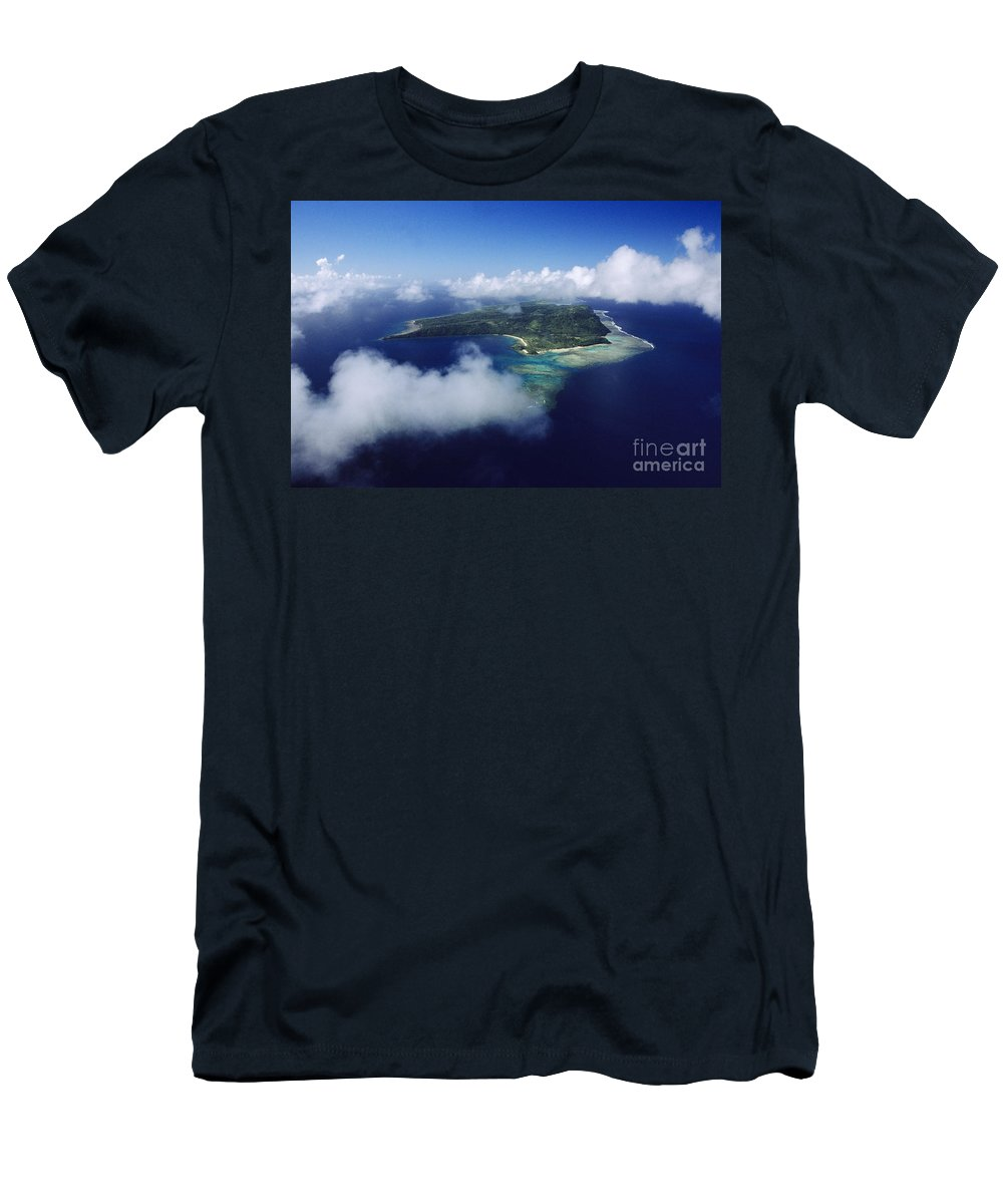 Aerial Men's T-Shirt (Athletic Fit) featuring the photograph Fiji Aerial by Larry Dale Gordon - Printscapes