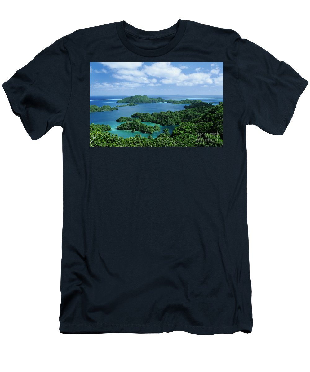 Aerial Men's T-Shirt (Athletic Fit) featuring the photograph Fiji Vanua Balavu by Larry Dale Gordon - Printscapes