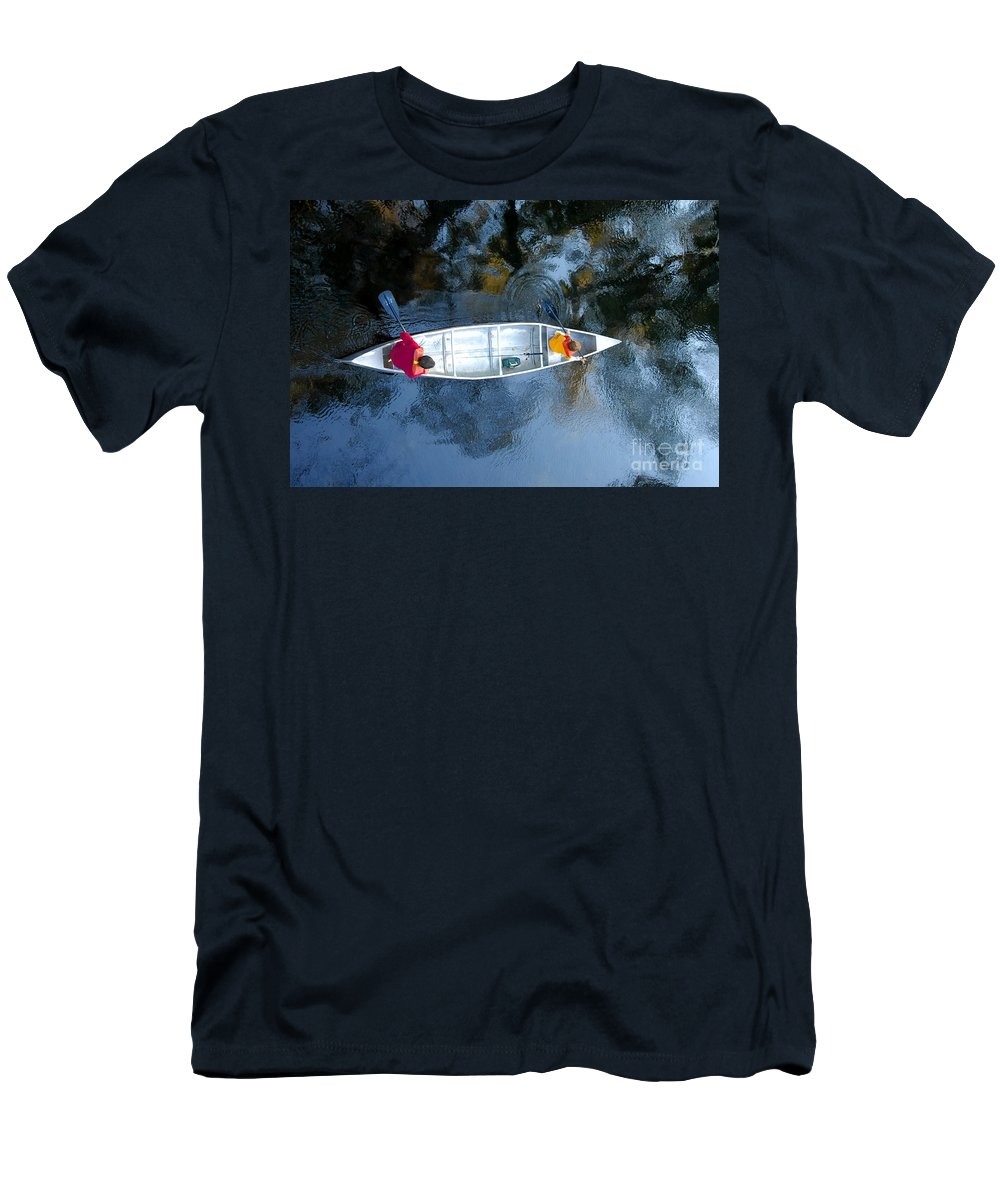 Father Men's T-Shirt (Athletic Fit) featuring the photograph Fishing Trip by David Lee Thompson