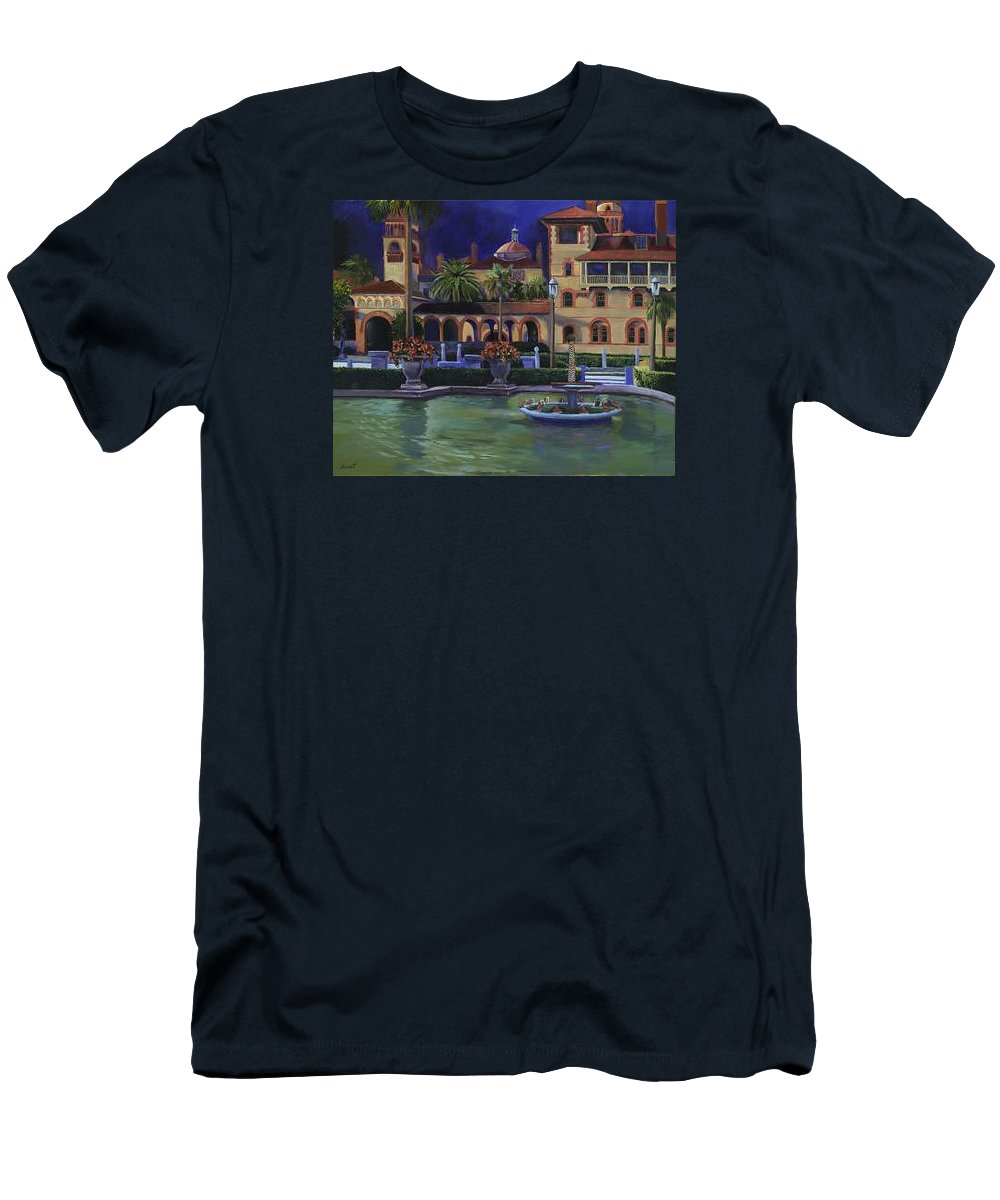 St. Augustine\'s Flagler College Campus Men's T-Shirt (Athletic Fit) featuring the painting Flagler College II by Christine Cousart